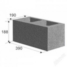 Камень стеновой 50% пустотности 188х190х390