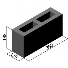 Камень стеновой перегородочный L  188х120х390