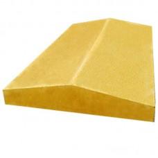 Козырек двухскатный шагрень широкий 390х350х5,5